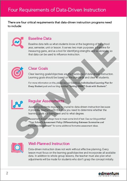 Data-Driven Instruction Pack